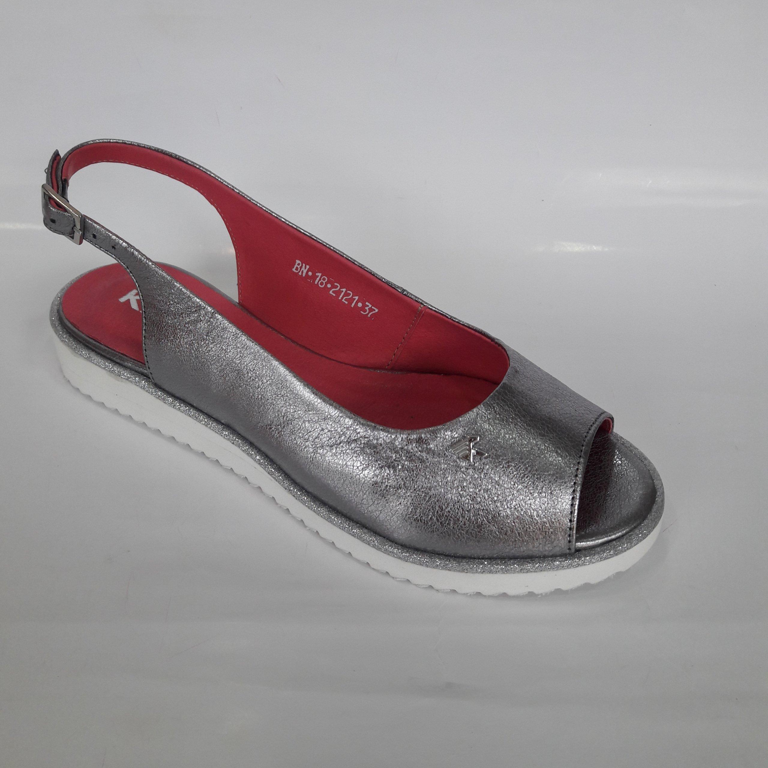 5ff9e53d837f6 Karino 2121 sandały skóra srebrne róż WYPRZEDAŻ 38 - 7409909078 ...
