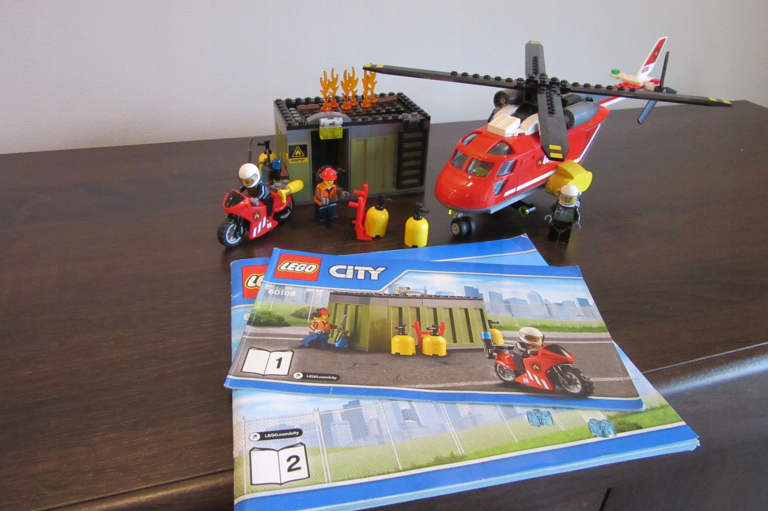 Lego City Helikopter Strażacki Pożar Straż 60108 7693748348