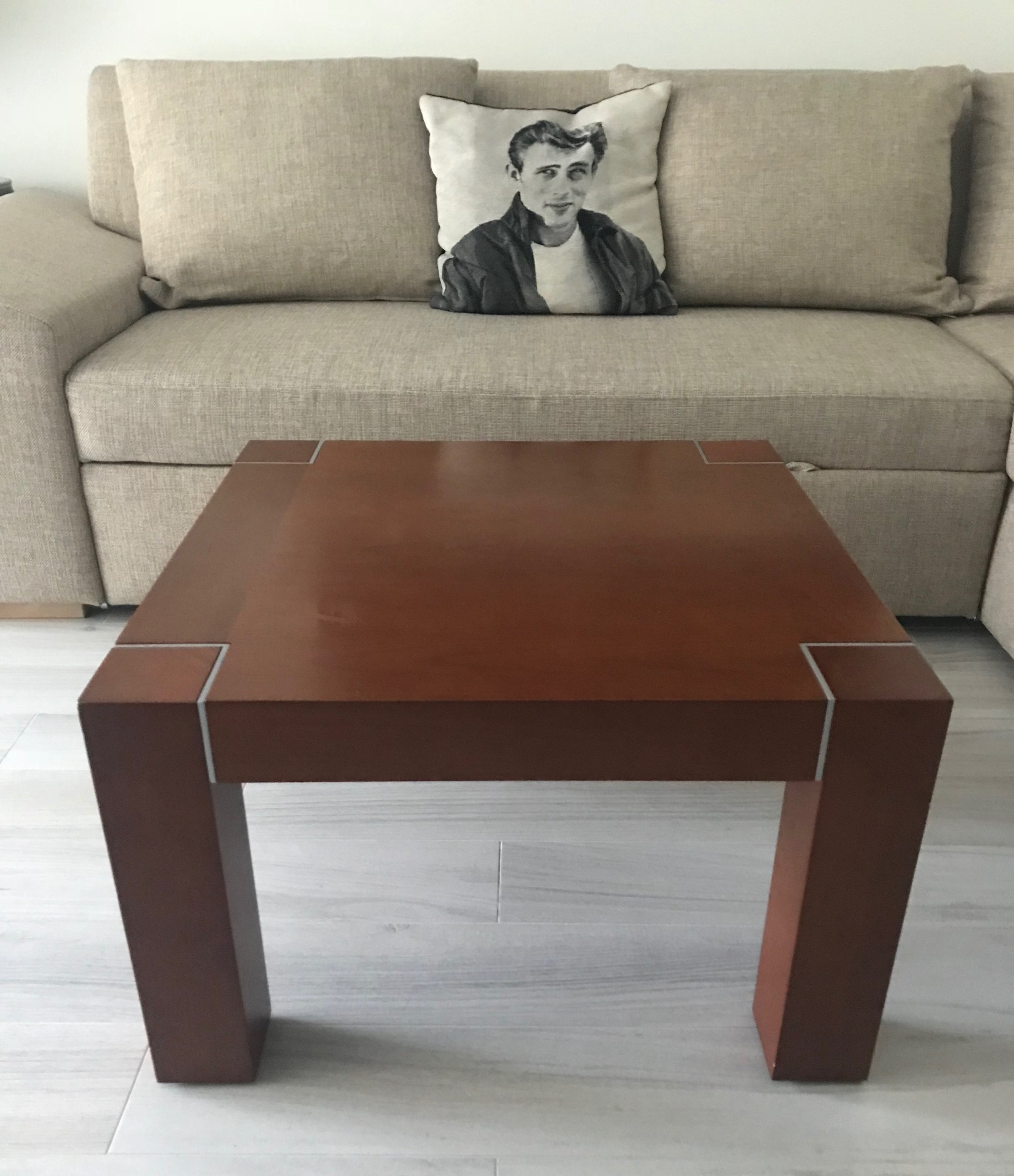 Drewniany Stolik Kawowy Do Salonu ława Kwadratowa 7308074570