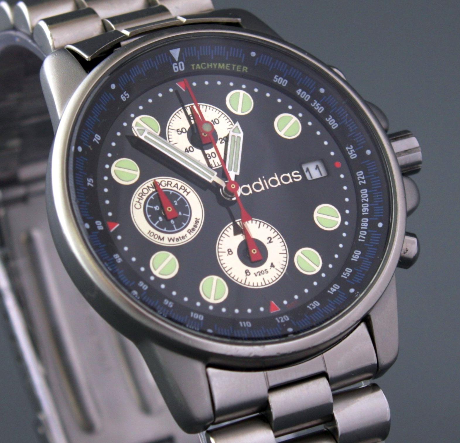 023215106ea42 Adidas Chronograph zegarek męski styl vintage BDB - 7180531879 ...