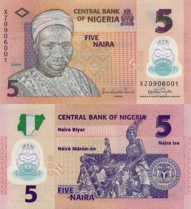 Nigeria 5 Naira P 38 2009 Polimer Stan I Unc 7225214859 Oficjalne Archiwum Allegro