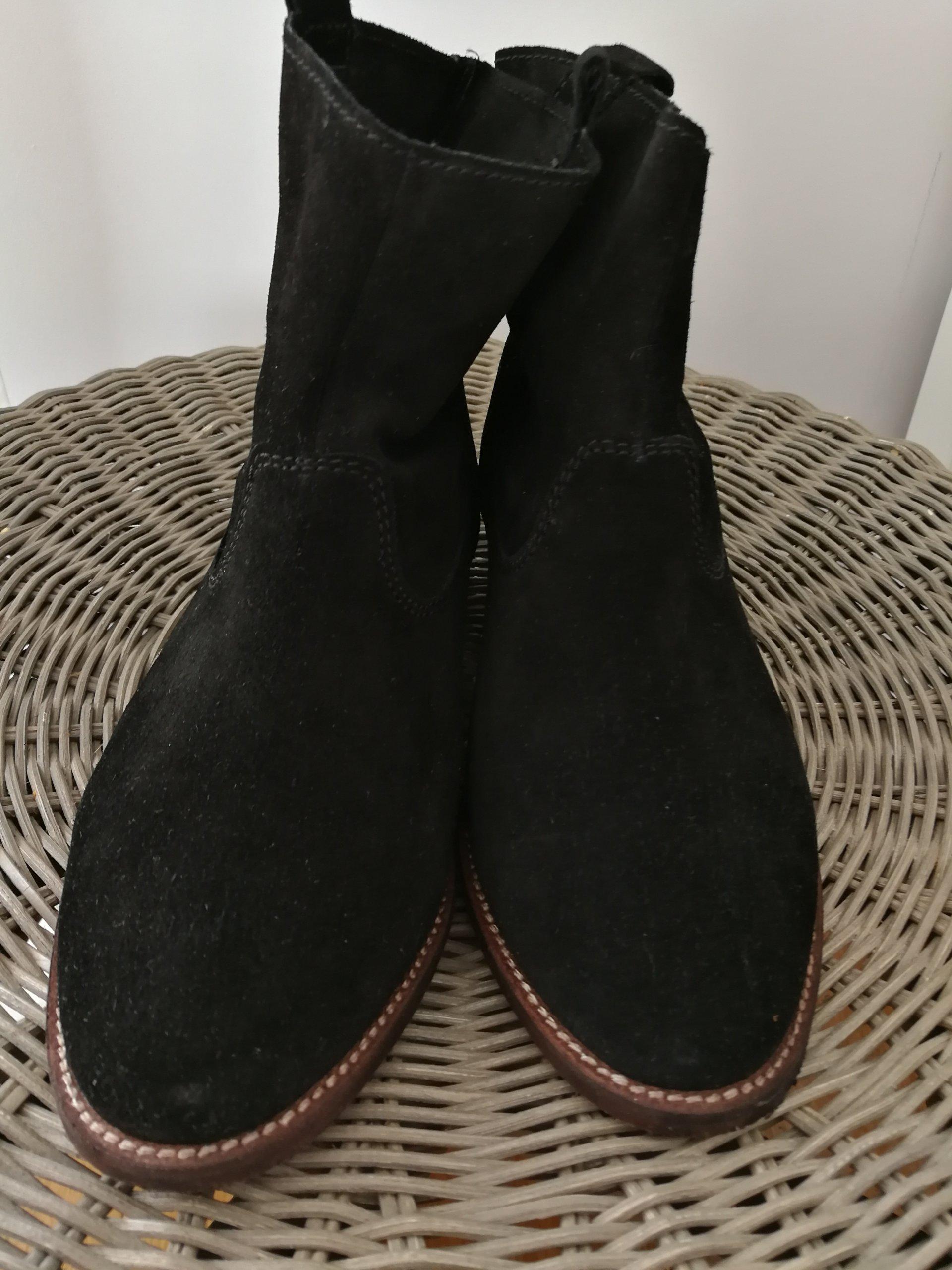 7d3bba34ad5c5 Nowe botki H&M premium, czarne, zamszowe 38 - 7146662317 - oficjalne ...