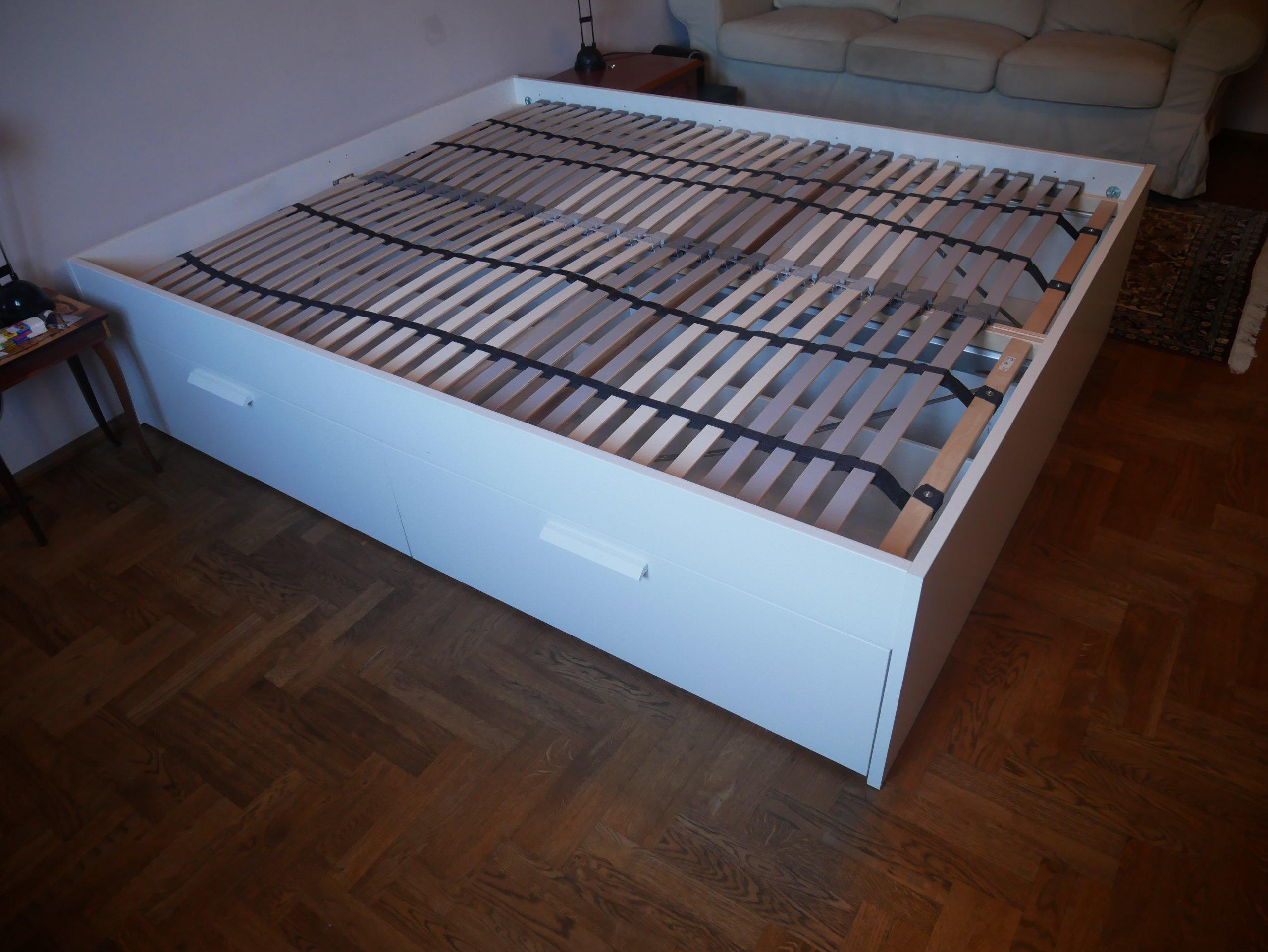 Brimnes Rama łóżka Z Szufladami Ikea 7095141411