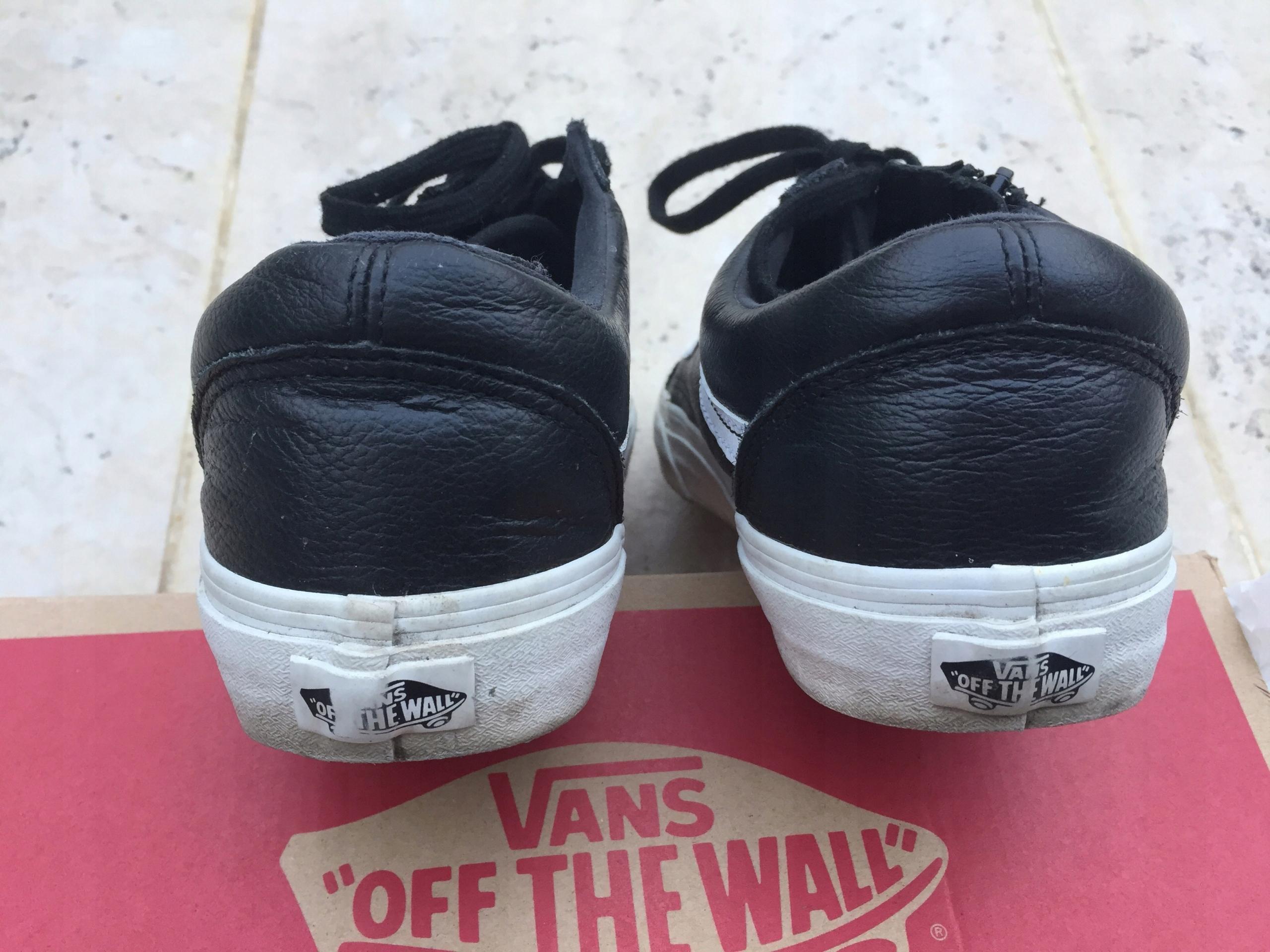c7594e684f877 R Vans 7555611530 Czarne Buty Używane Old 40 Skóra Skool gwUpz