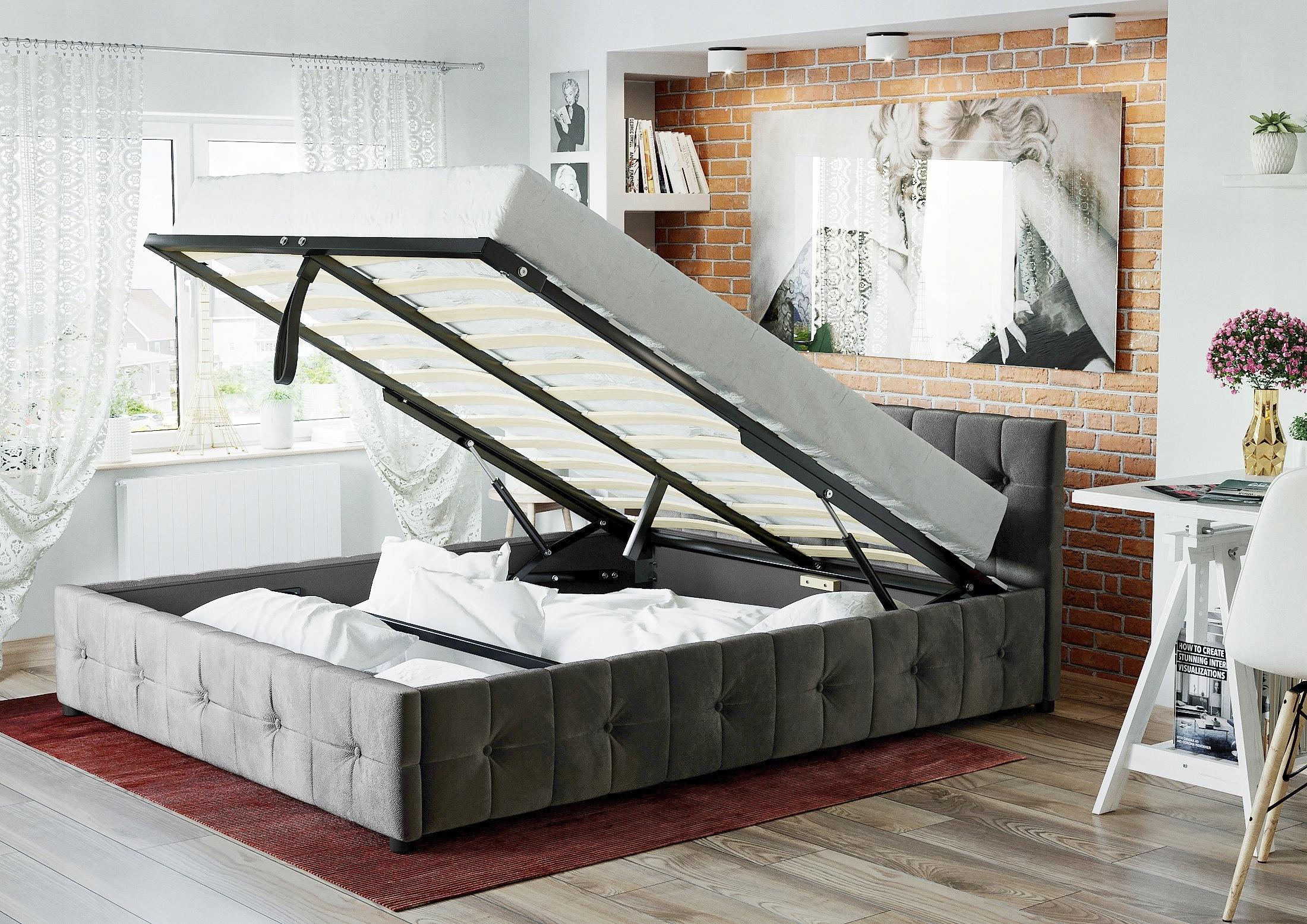 łóżko Tapicerowane 140x200 Klaudia Z Materacem 7453361100