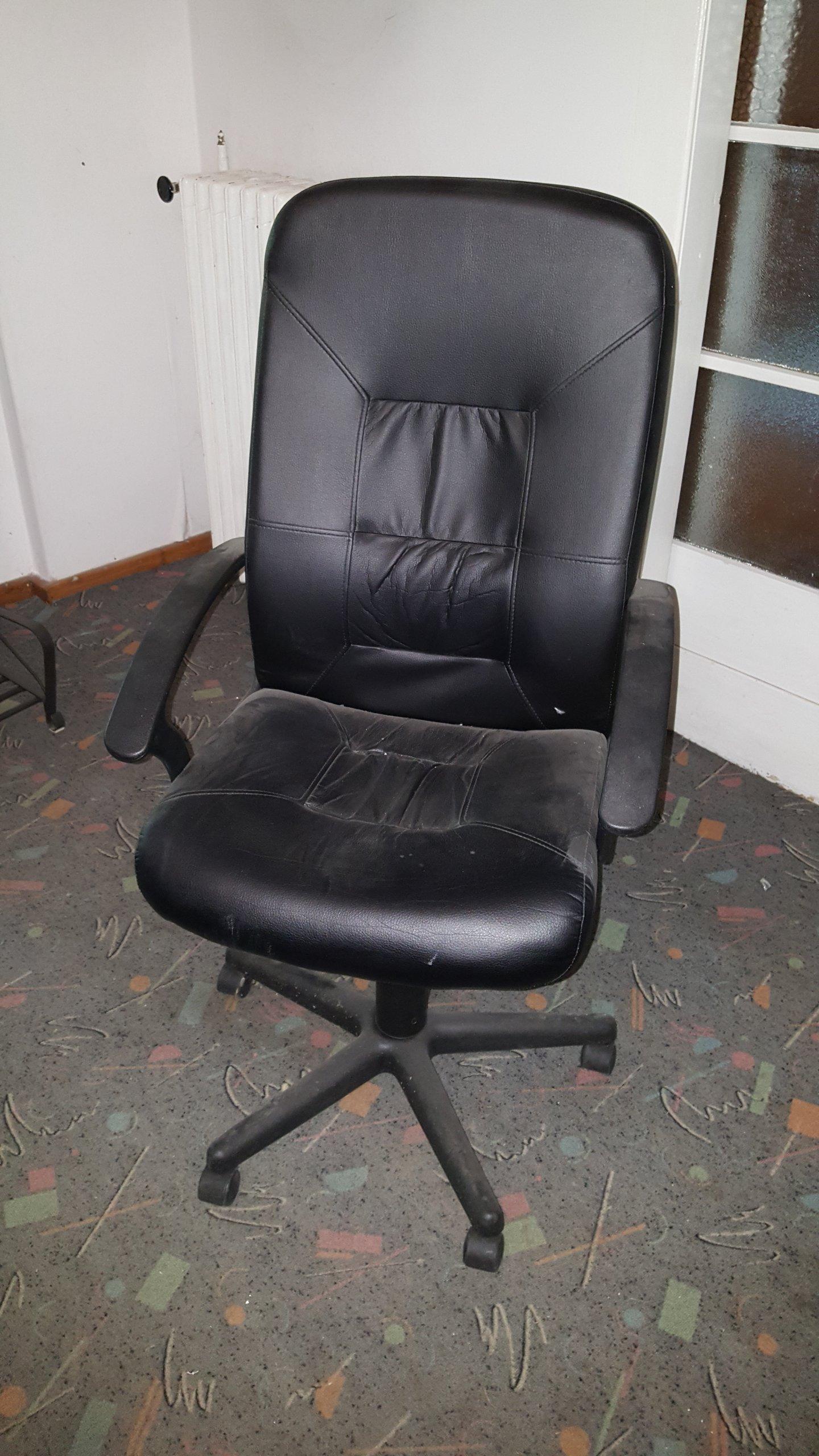 Fotel Biurowy Ikea Vernet Duży Przechył Skóra 7080880347