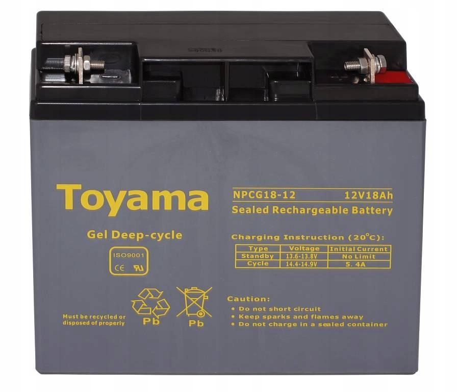 Akumulator ŻEL WZMACNIANY 18Ah zasilanie echosondy
