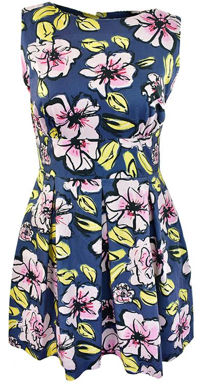 kZ1024 ładna sukienka w kwiaty 46