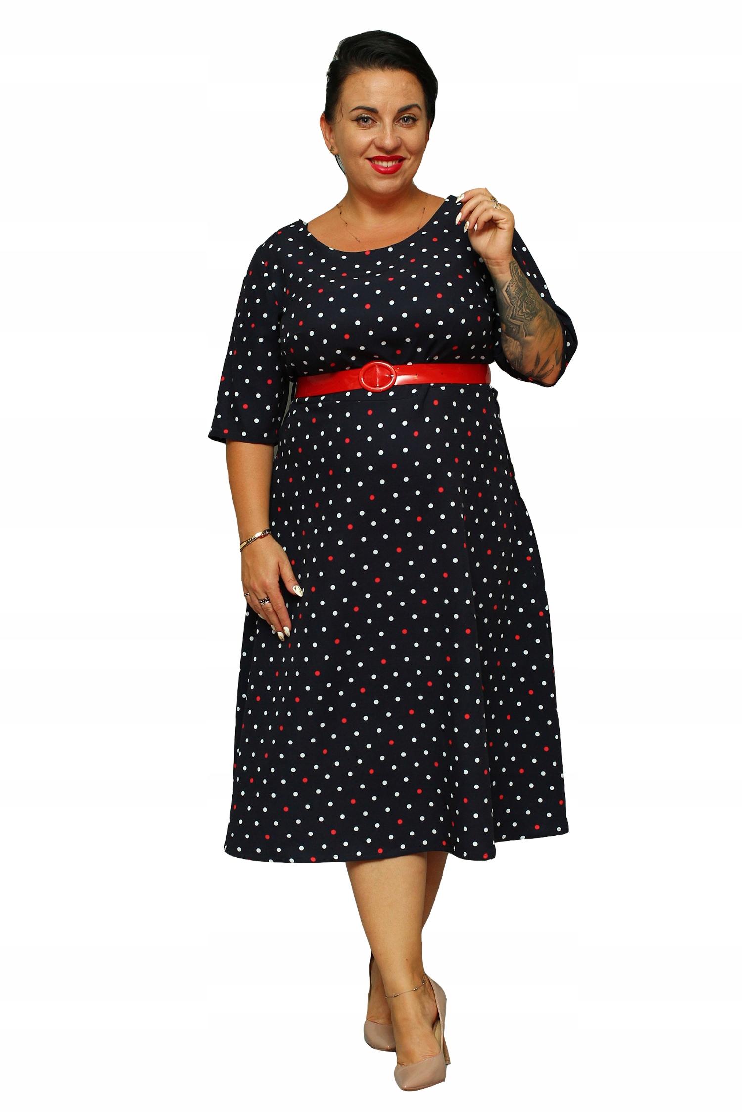 694a6fb6 WYPRZEDAŻ Sukienka ADEL grant w groszki 46