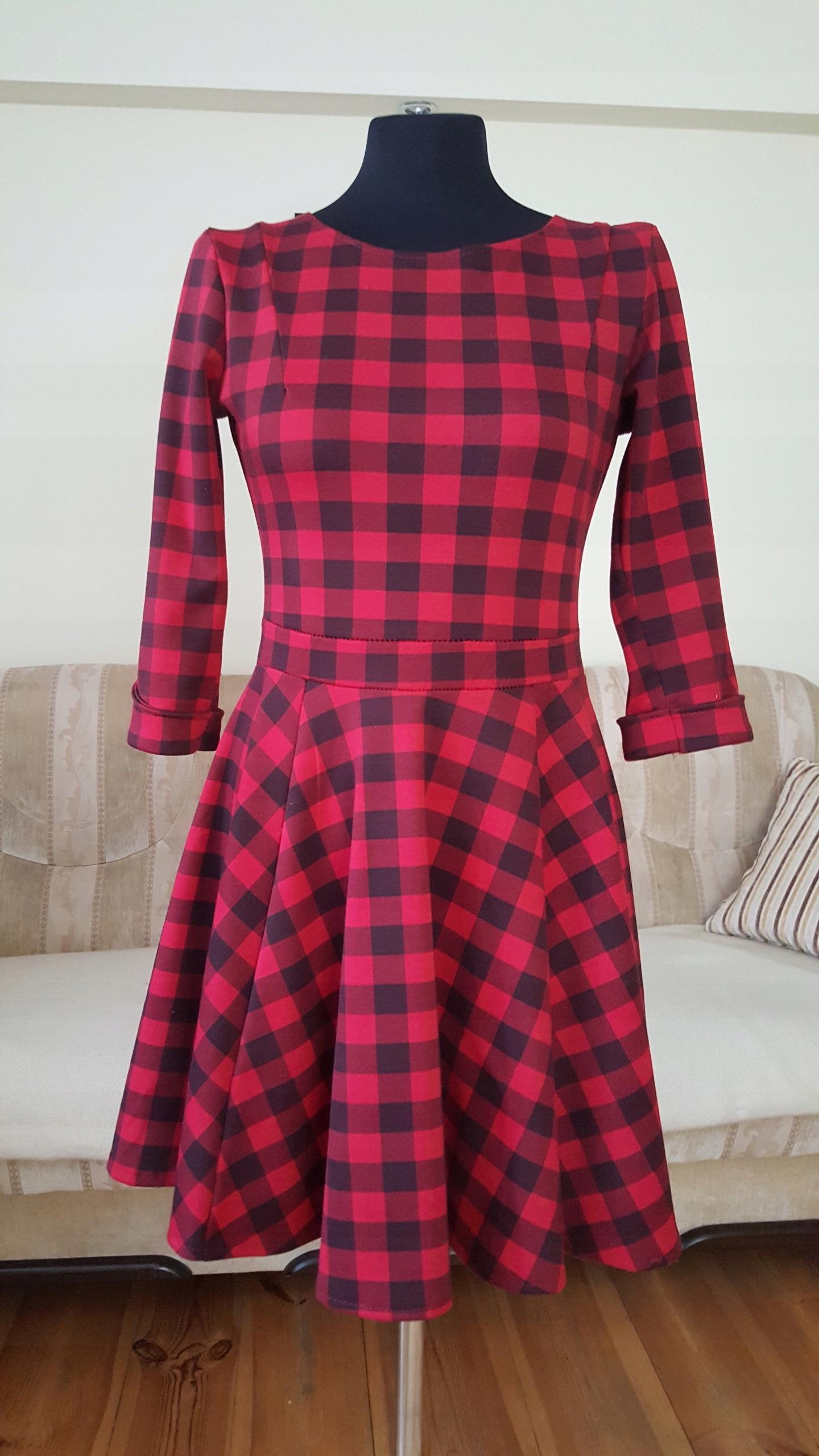 45546b56d1 Sukienka krata włoska M 38 - 7517391812 - oficjalne archiwum allegro