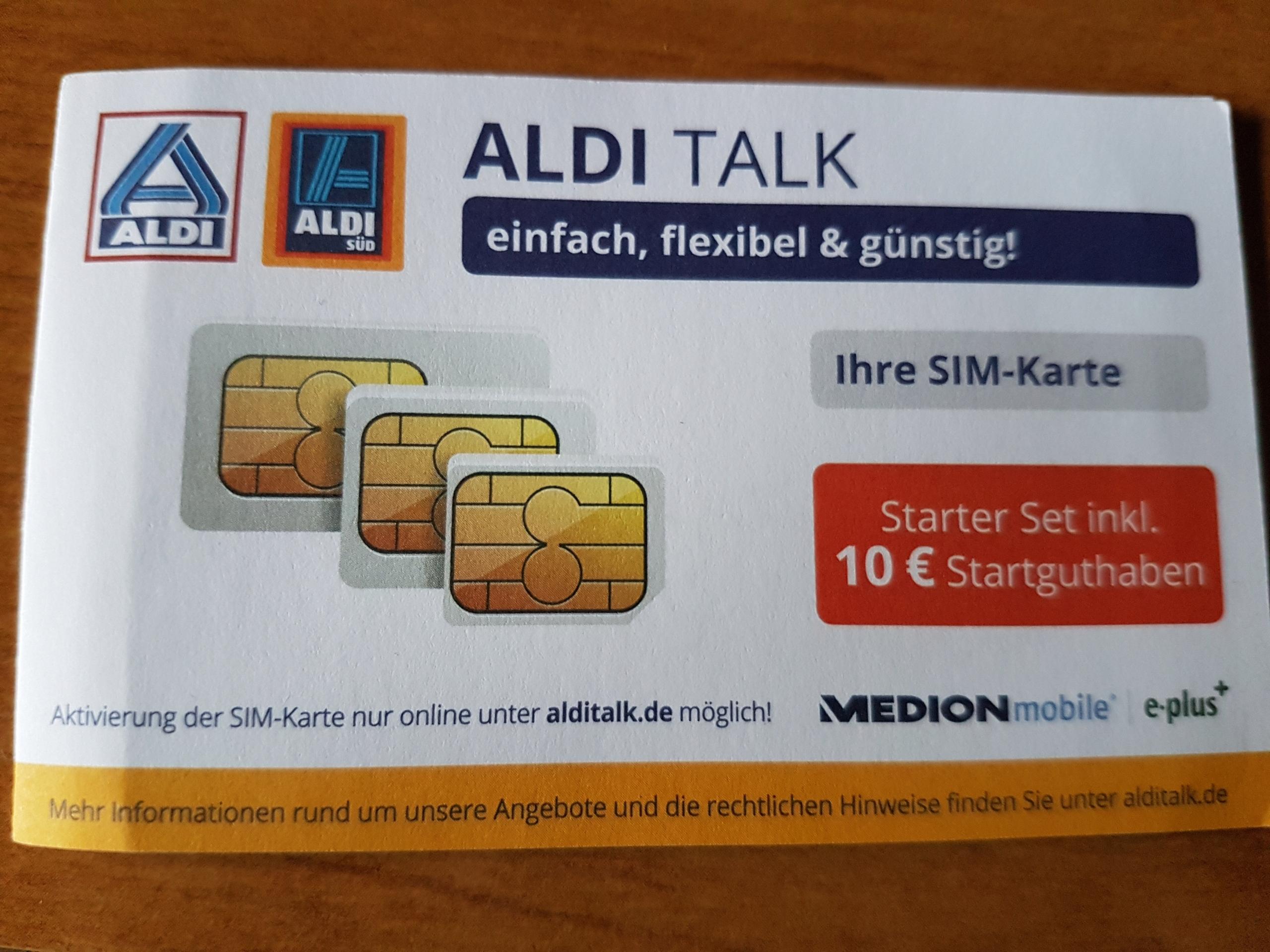 Sim Karte Nur Internet.Aldi Talk Starter Niemiecka Karta Sim Internet 7727946346