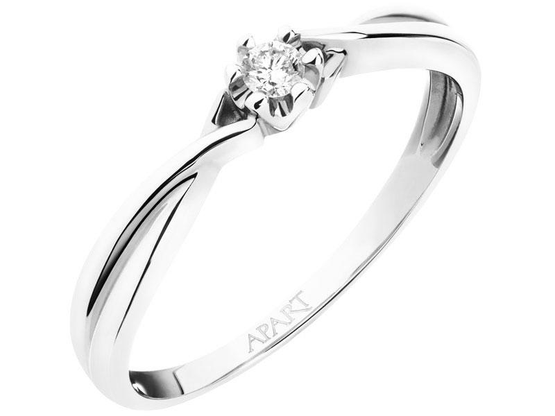 Pierścionek Zaręczynowy Apart Białe Złoto Brylant 7173599309