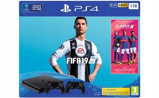 Konsola SONY PlayStation slim1TB FIFA 19 i 2x pad