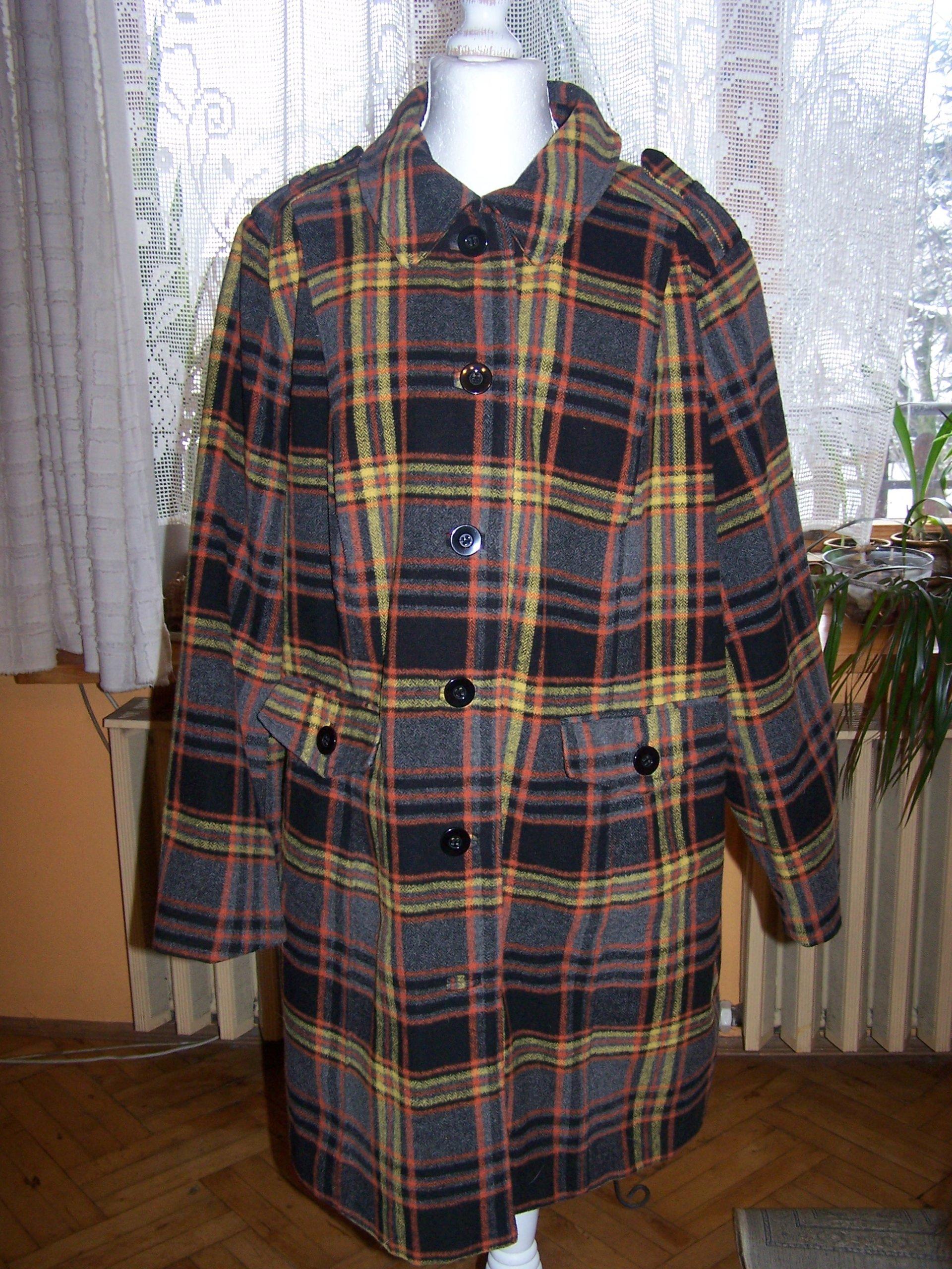 a06257568984d 52/54 płaszcz w kratkę na podszewce przejściowy - 7403532839 ...