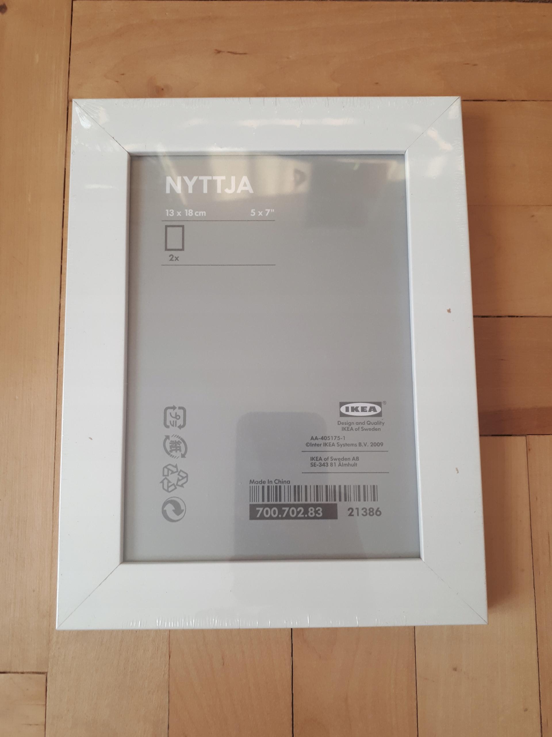 Nyttja Ikea Ramka 13x18cm Biała 2 Szt 7620248804