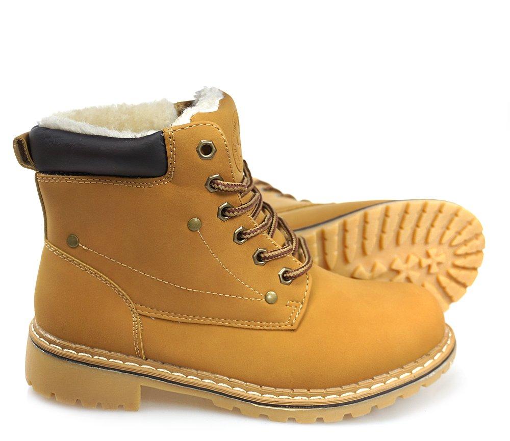 78cb50bee3be35 TRAPERY damskie buty zimowe MIODOWE OCIEPLANE r 38 - 7049567815 ...