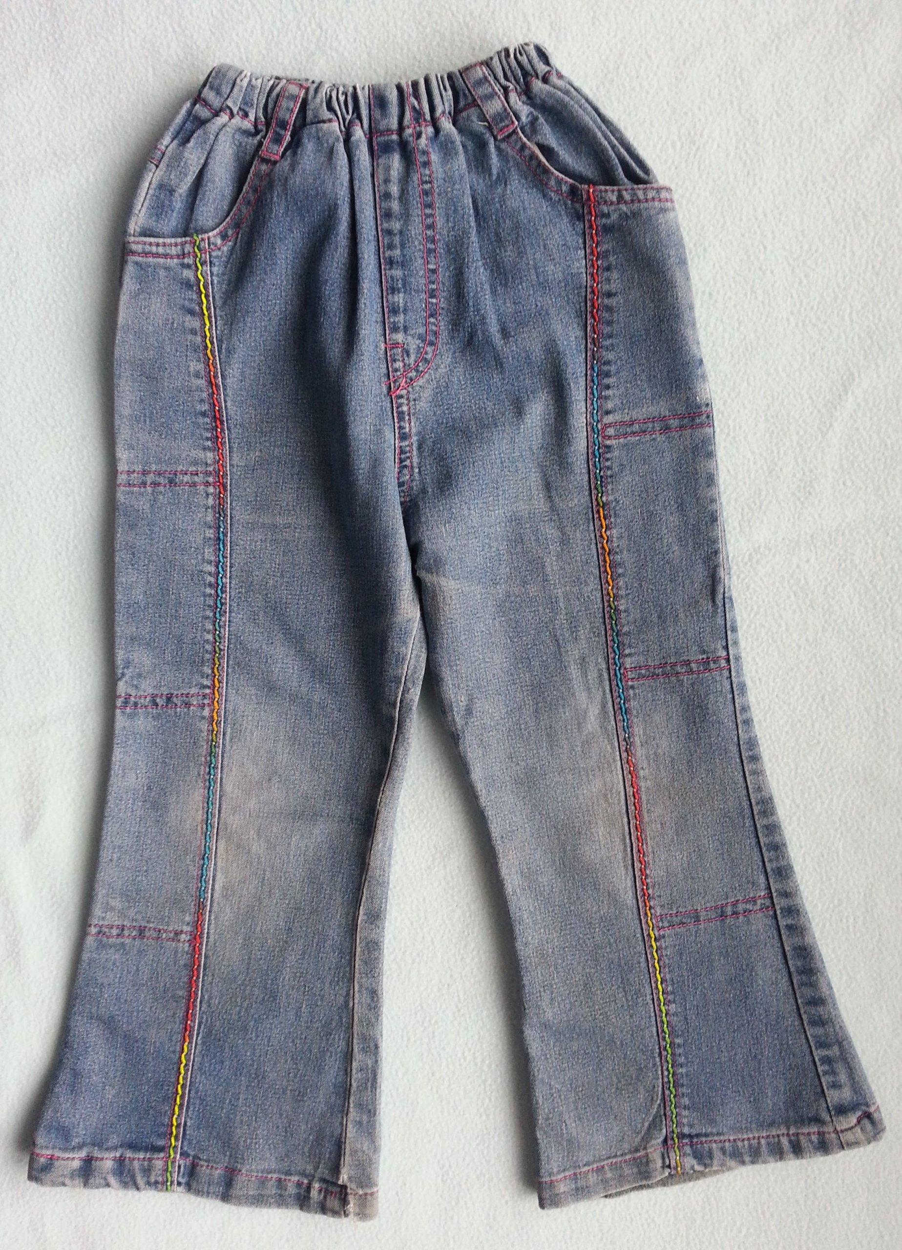 33fae2c6b2b771 jeansowe spodnie dziewczęce rozmiar 110-116 - 7297256187 - oficjalne  archiwum allegro