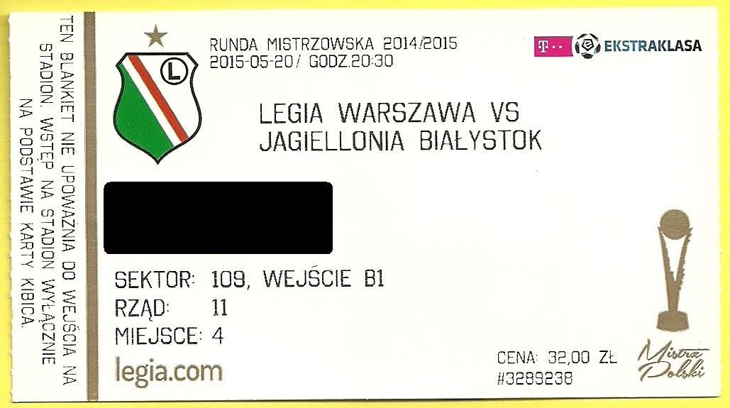 8d3ed76948b9e Legia Warszawa - Jagiellonia Białystok 20.05.2015 - 7638695168 ...