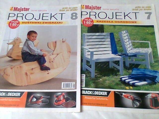 G1 Majster Projekt Nr 7 I 8 Krzesła Huśtawki