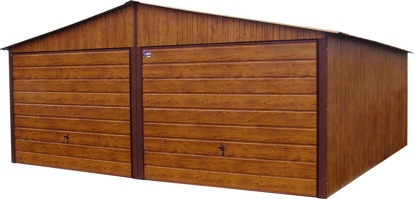 Garaże Blaszane 6x5 Garaż Drewnopodobny Złoty Dąb