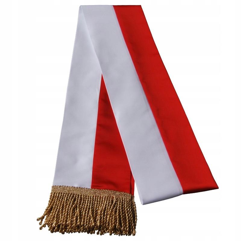 Ogromnie Szarfa biało-czerwona dla pocztu sztandarowego - 6997511689 IL05