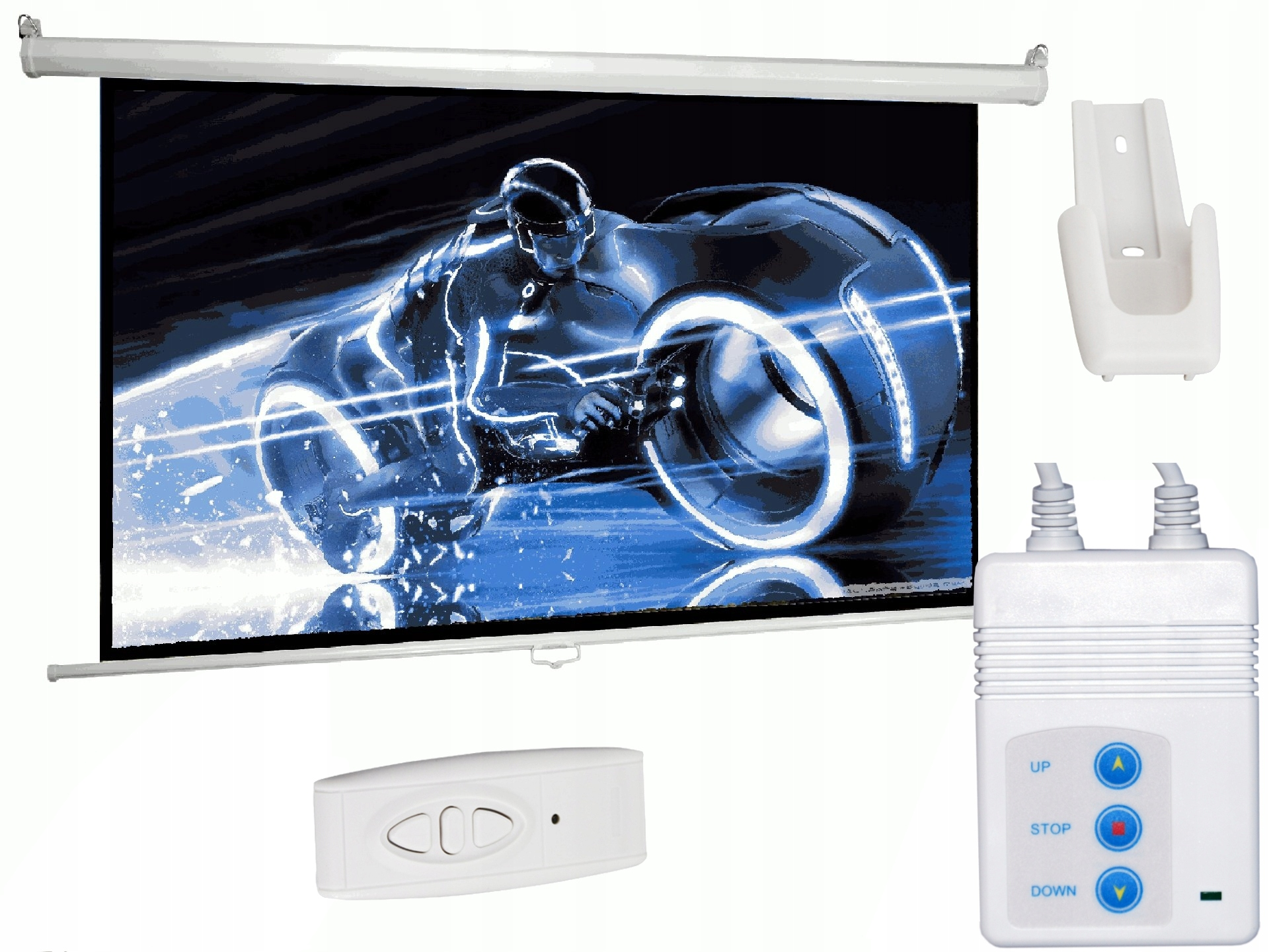 Ekran projekcyjny elektryczny 170x130 85'' pilot