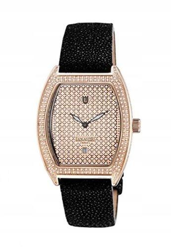 2ef75aca51501 Zegarek LANCASTER OLA0664G/NR damski z diamentami - 7632669457 ...
