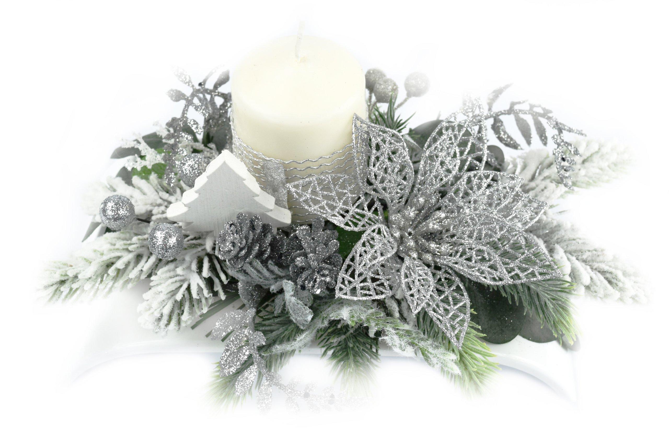 Piękny Stroik świąteczny Boże Narodzenie Dekoracja