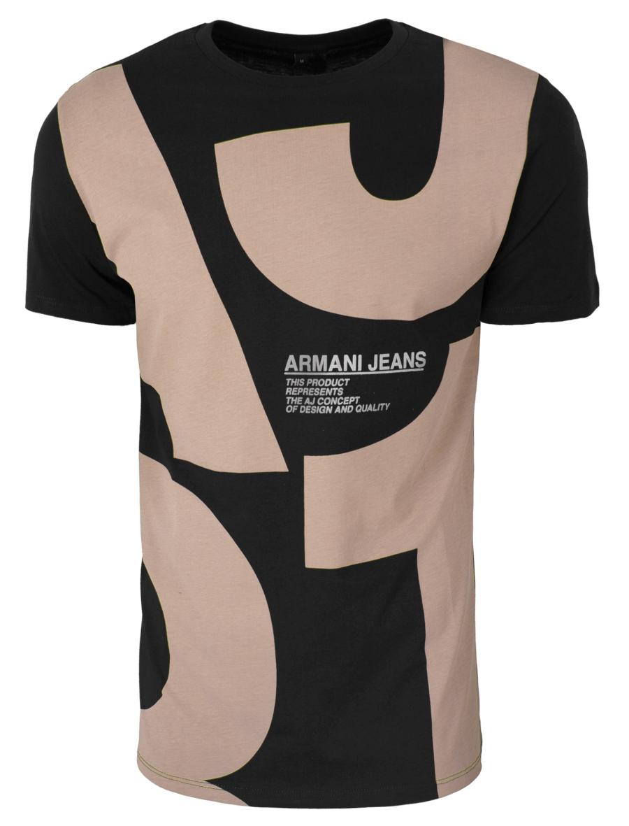 f32204d69866c4 ARMANI JEANS T-SHIRT CONCEPT CZARNA -70% XXL - 7341330722 ...