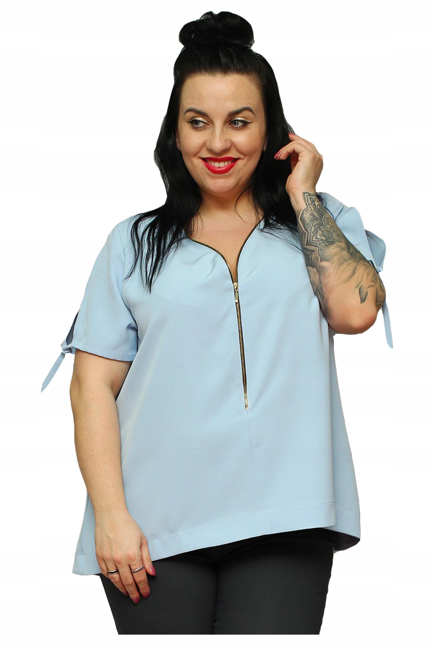 b375186447 Bluzka MILLA elegancka z zameczkiem błękit 50 - 7373365855 ...