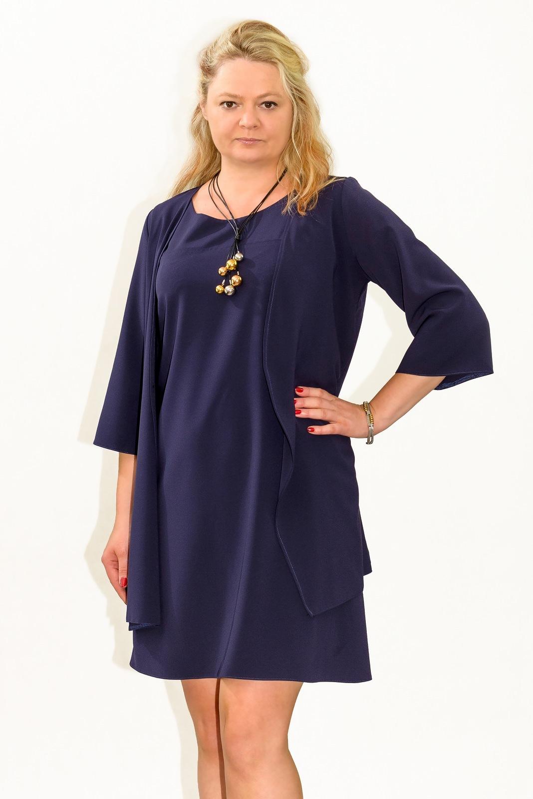 abf0920ead Sukienka plus size r. 50 KOMPLET wesele