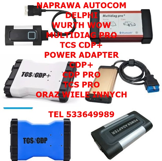 NAPRAWA AUTOCOM CDP PRO CDP+ DELPHI DS150 TCS INNE