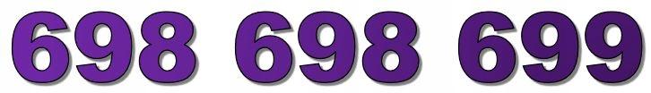 698 698 699 ZŁOTY NUMER T-MOBILE BIZNESOWY NOWY