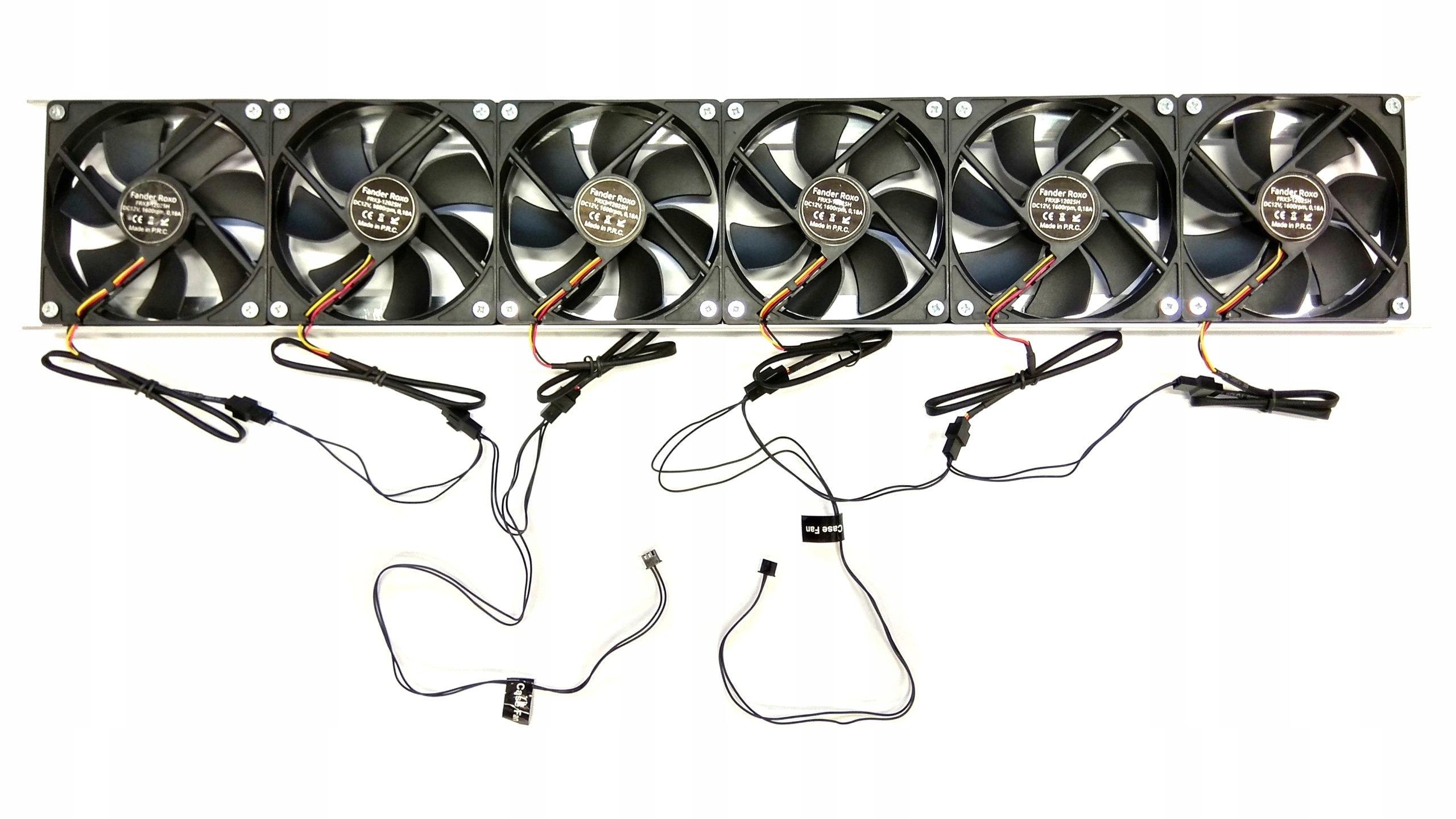 Chłodzenie do koparki 6 wentylatorów 134,8 m3/h