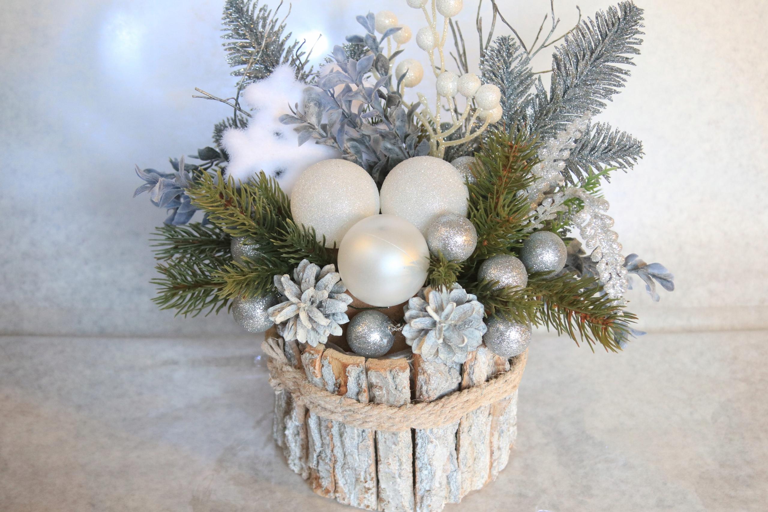 Stroik Na Stół Nowoczesny święta Boże Narodzenie