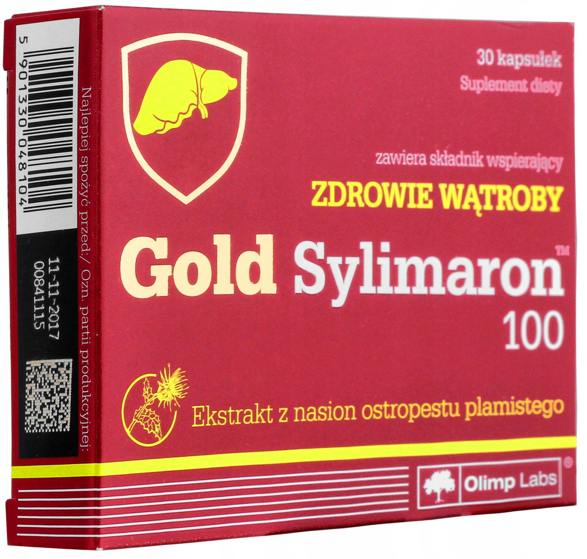 3a7e1fdee435 OLIMP GOLD SYLIMARON 100 30kaps ZDROWA WĄTROBA - 7685968540 ...