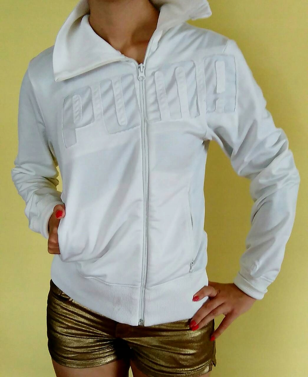 bluza sportowa biała
