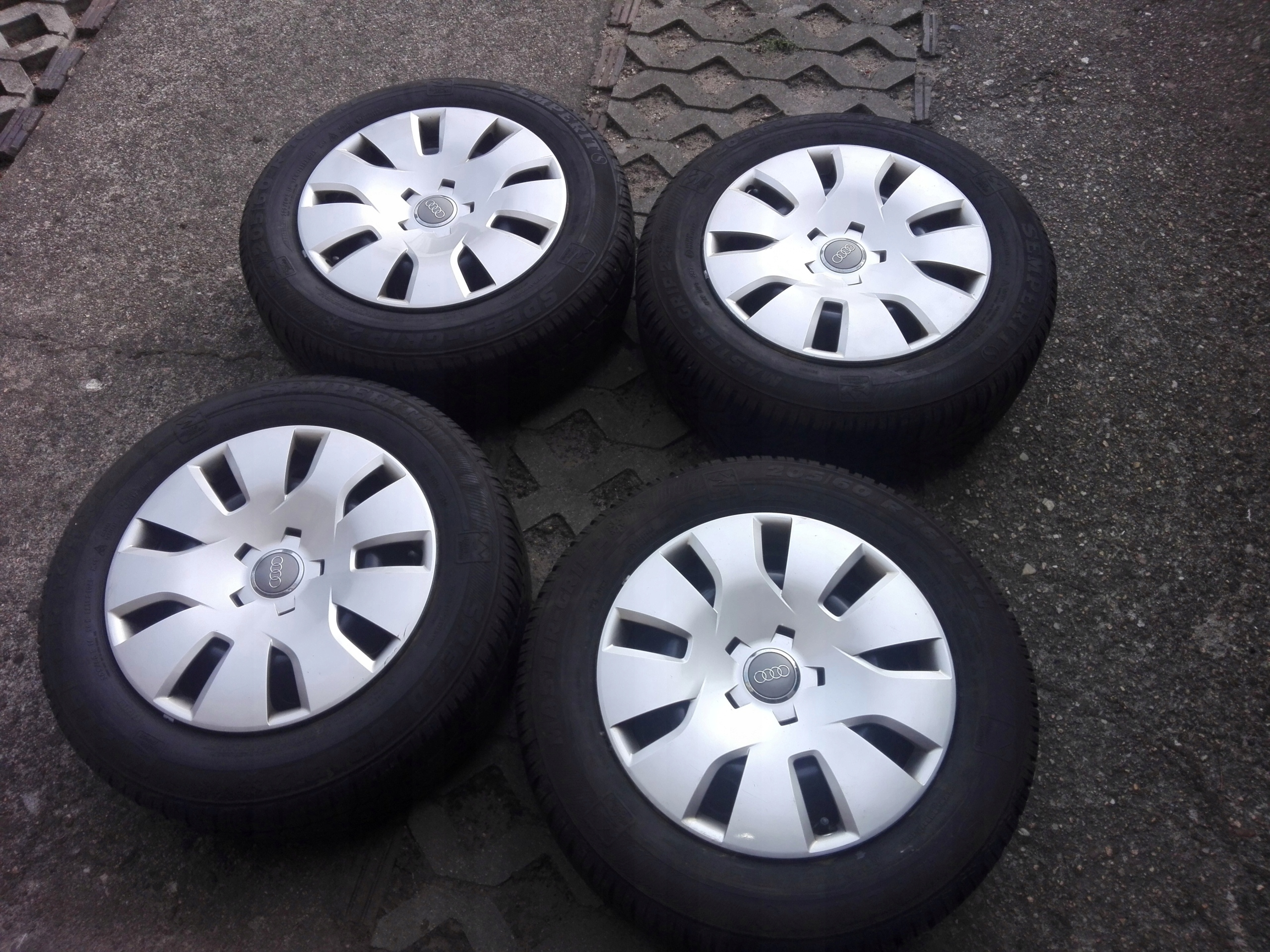Felgi Audi A3 A4 5x112 Opony Zimowe 2056016 7541491492