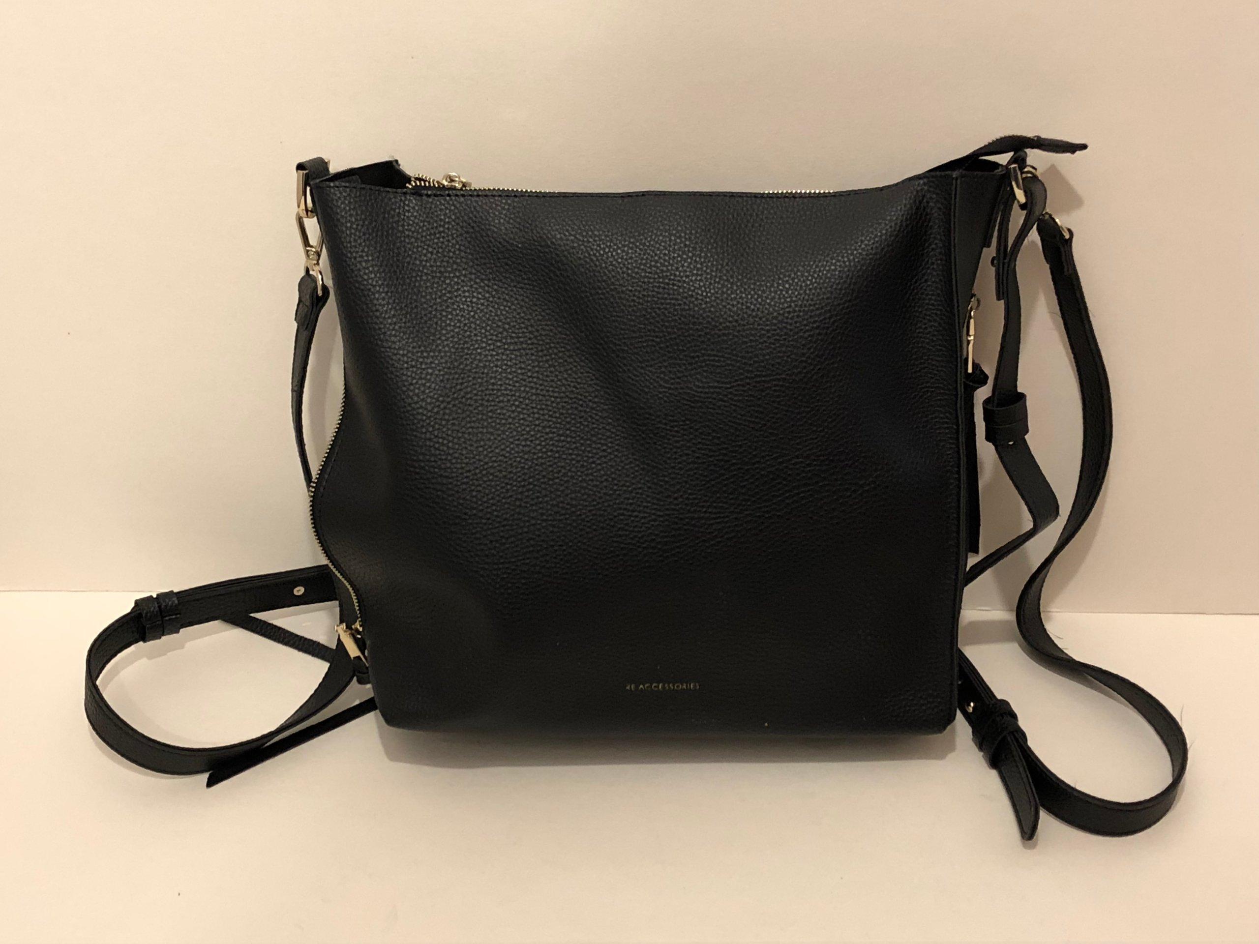 827c1376bc1 RESERVED torebka - plecak czarny Mo-291