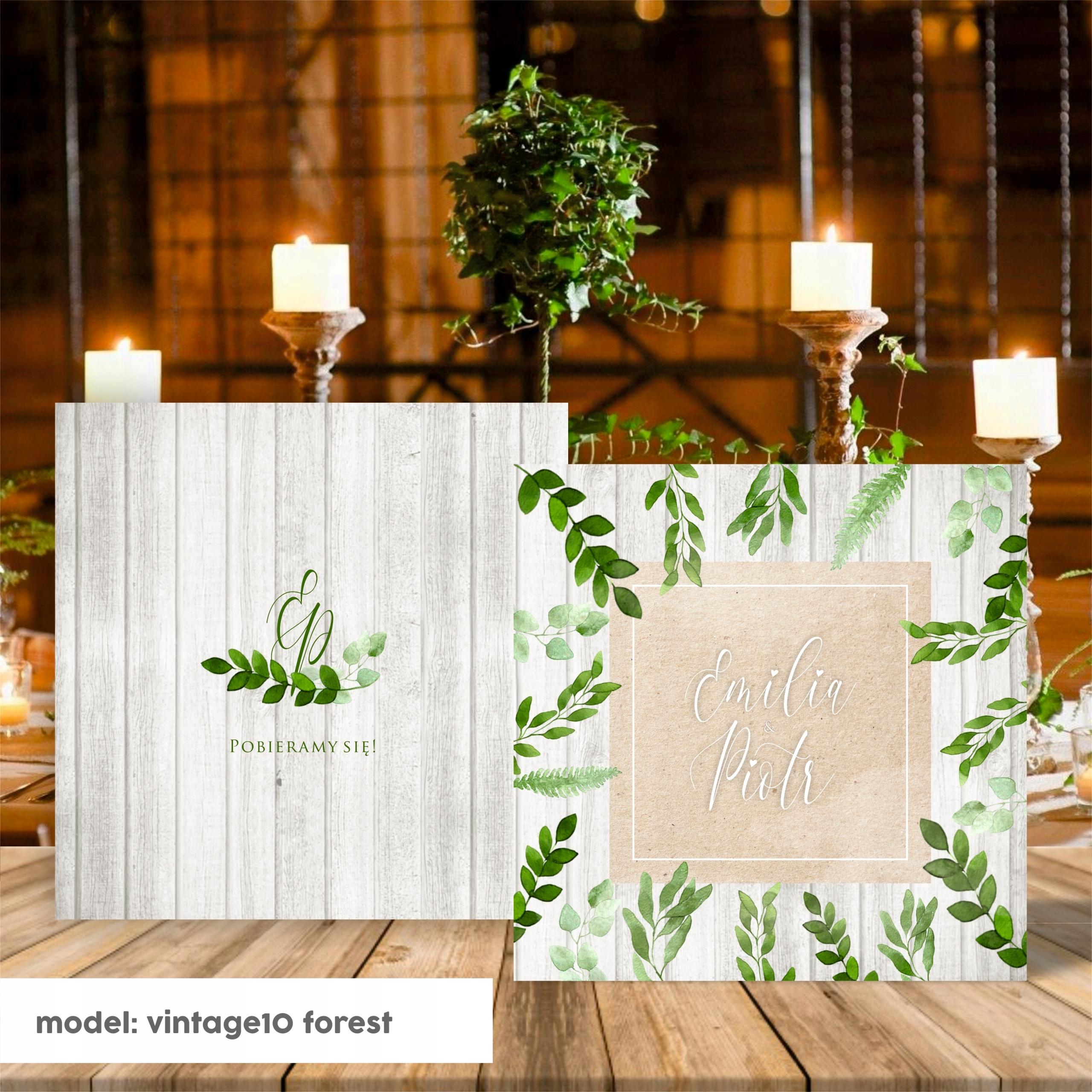 Zaproszenia ślubne Zestaw Rustykalne Hit Greenery 7456667490