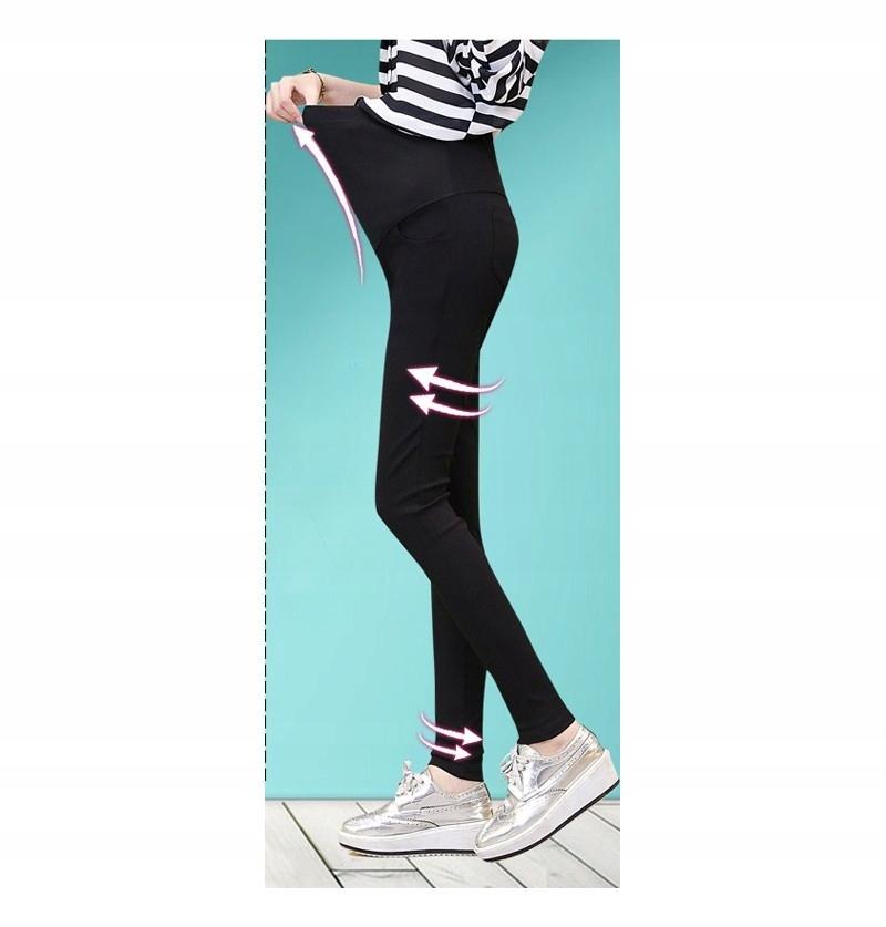 45af59d14c6651 CIĄŻOWE Spodnie dla kobiet w ciąży CZARNE L C6B - 7749392067 ...