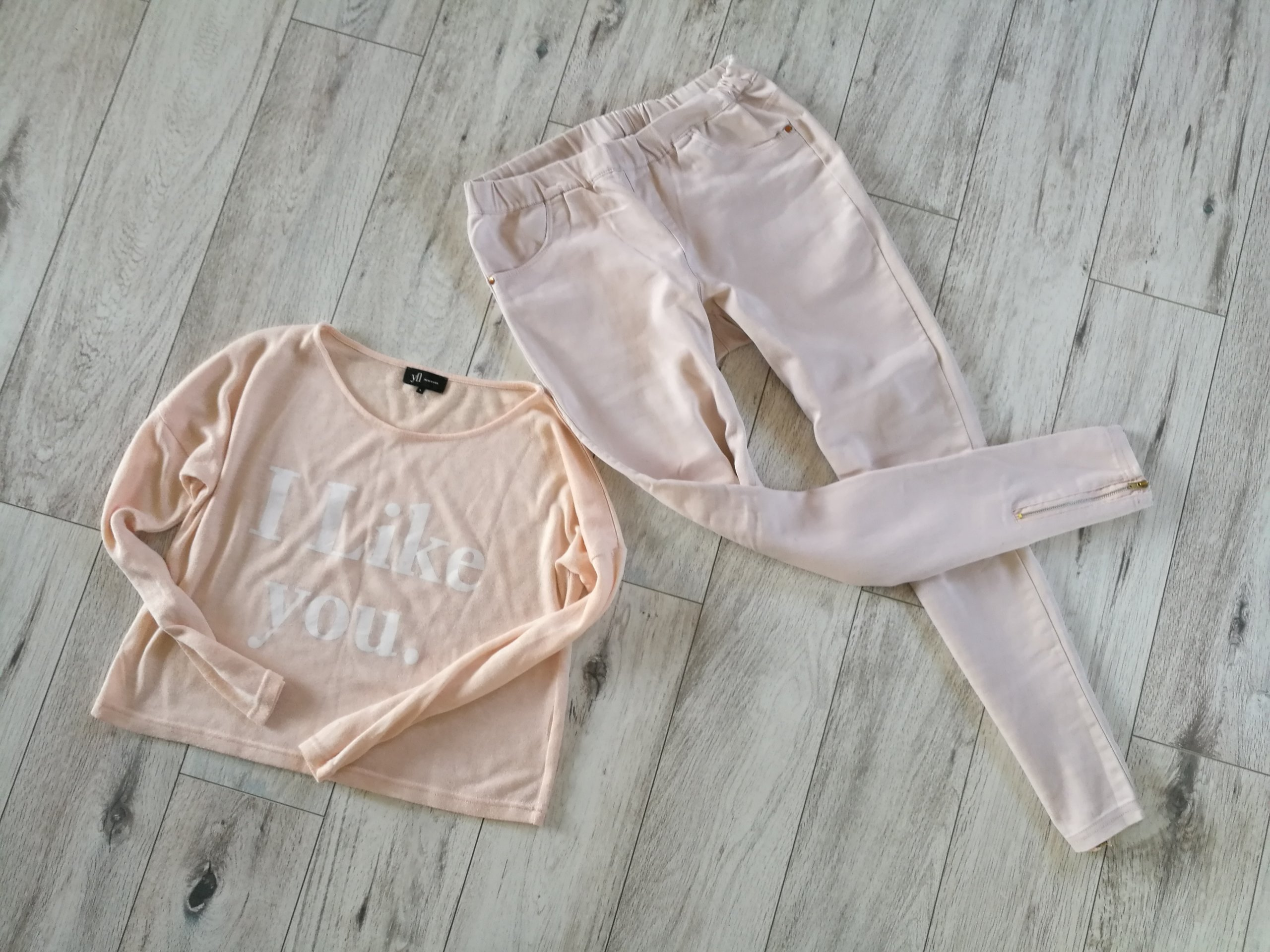 c4b71d91ca5ea KOMPLET_pastelowa bluzka reserved i spodnie zipy_L - 7334928273 - oficjalne  archiwum allegro