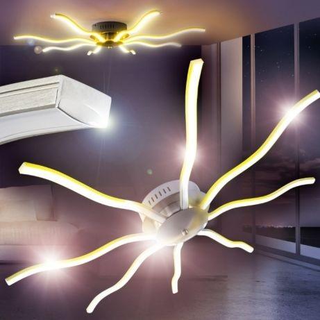 Nowoczesna Lampa Led łuk Fala Do Salonu Piękna 28w 7046677668