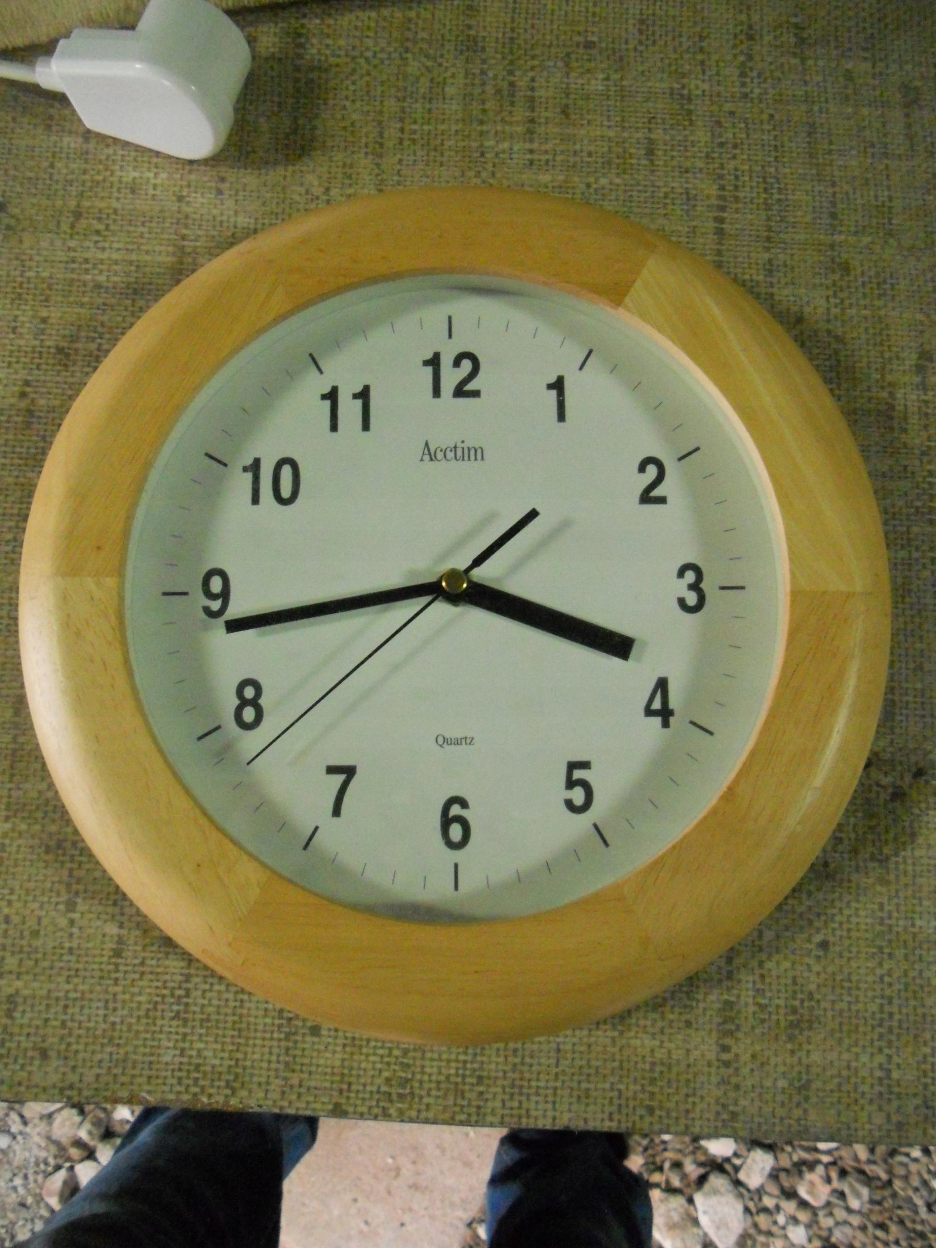 Zegar Drewno Kuchnia Przedpokój