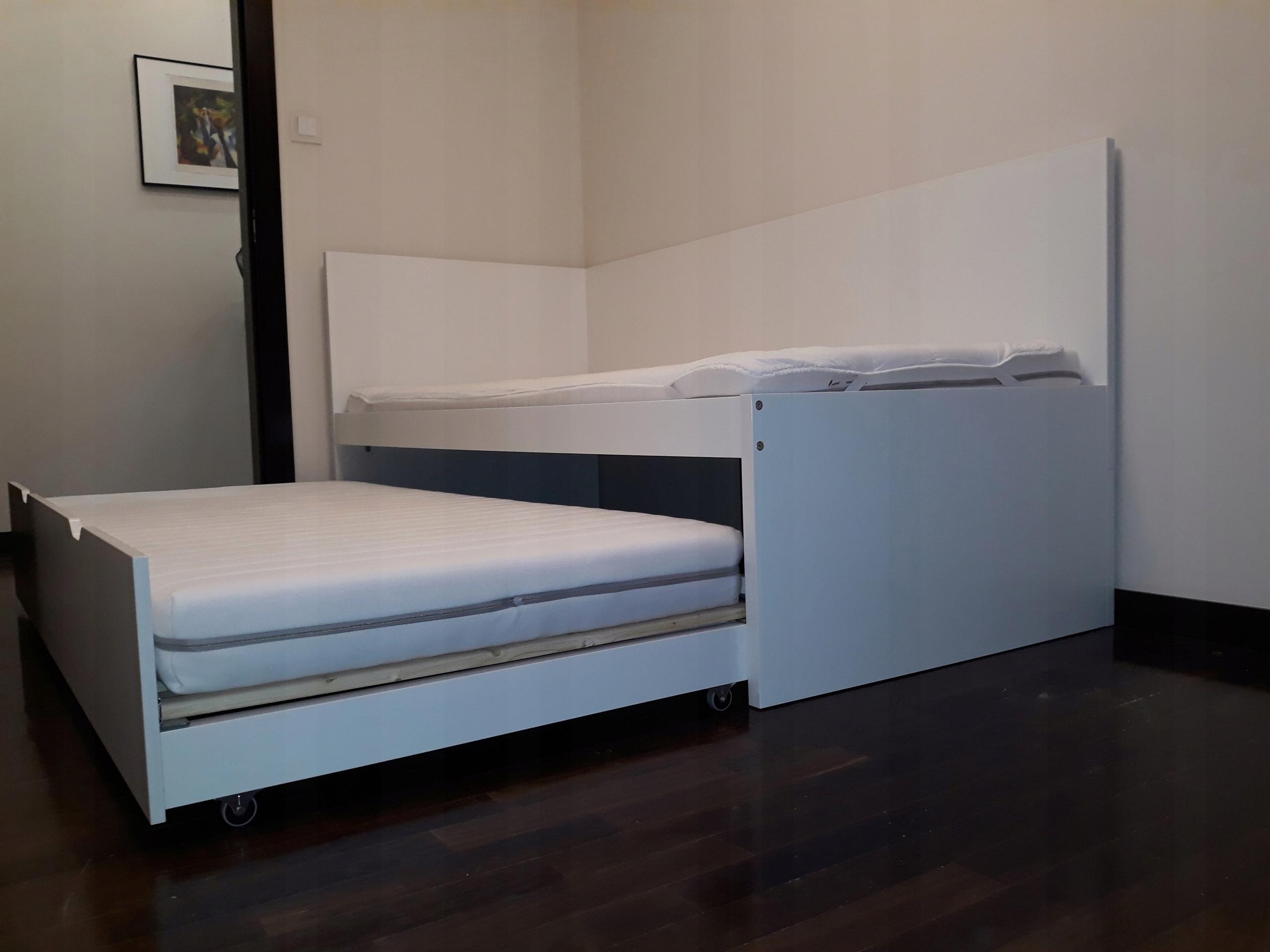 Ikea łóżko Dziecinne Podwójne 200x90 2 Materace 7565230135