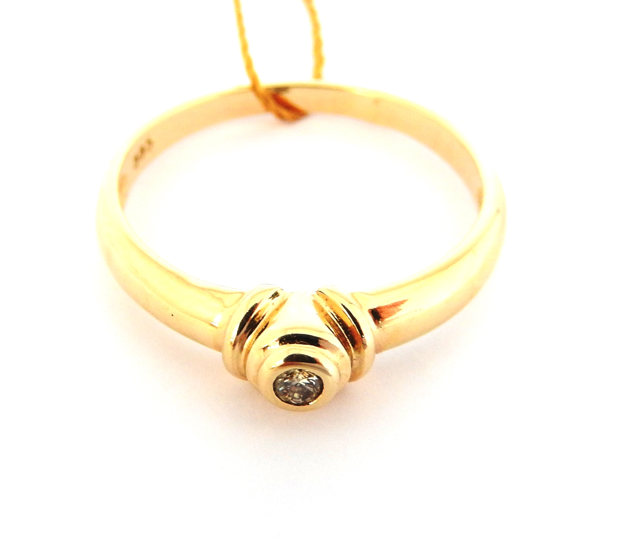Złoty Pierścionek Brylant 585 Verona R 14 6850476385
