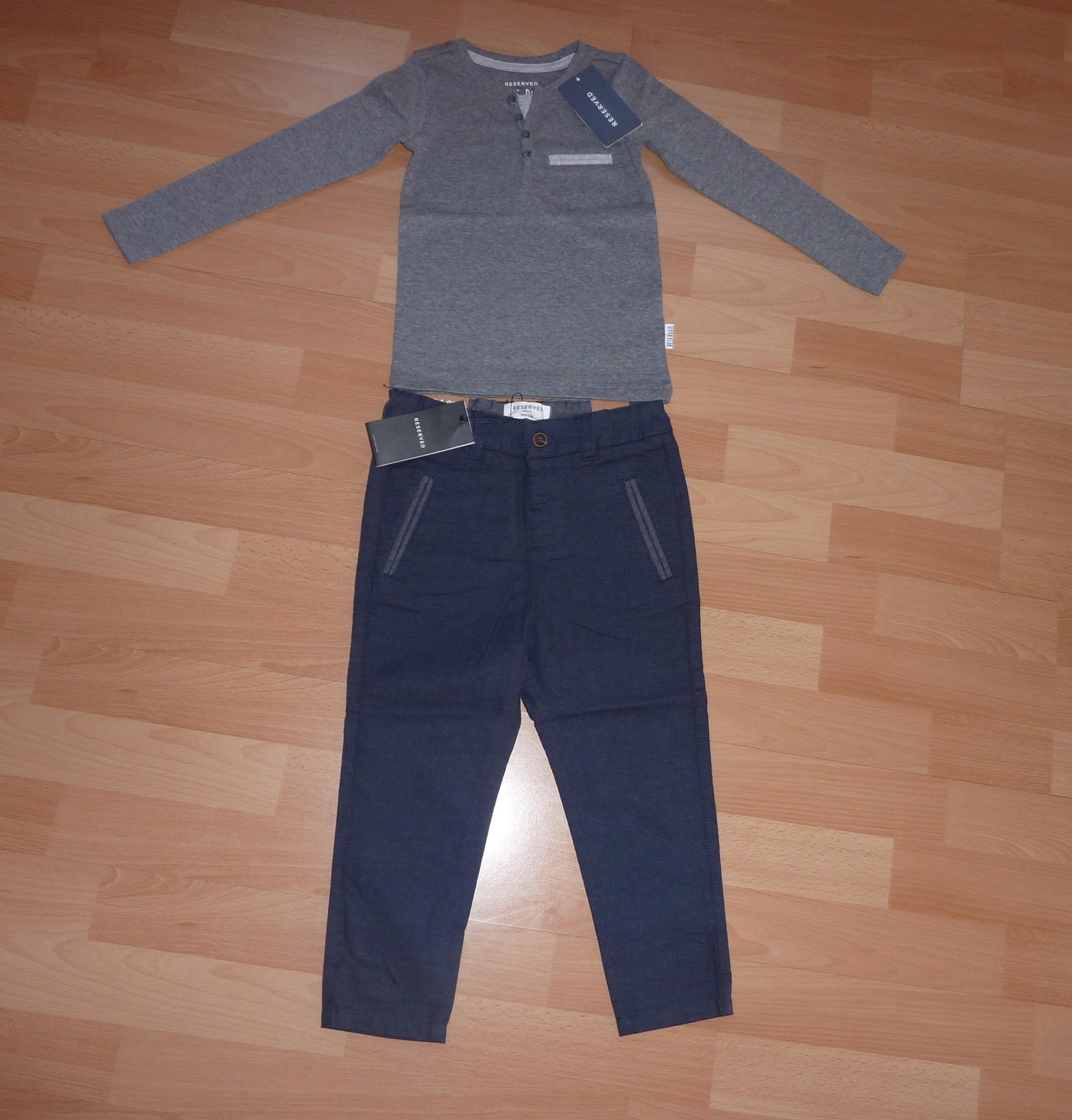 f939661f85b7e RESERVED zestaw spodnie i bluzka rozmiar 104 - 7678828988 ...