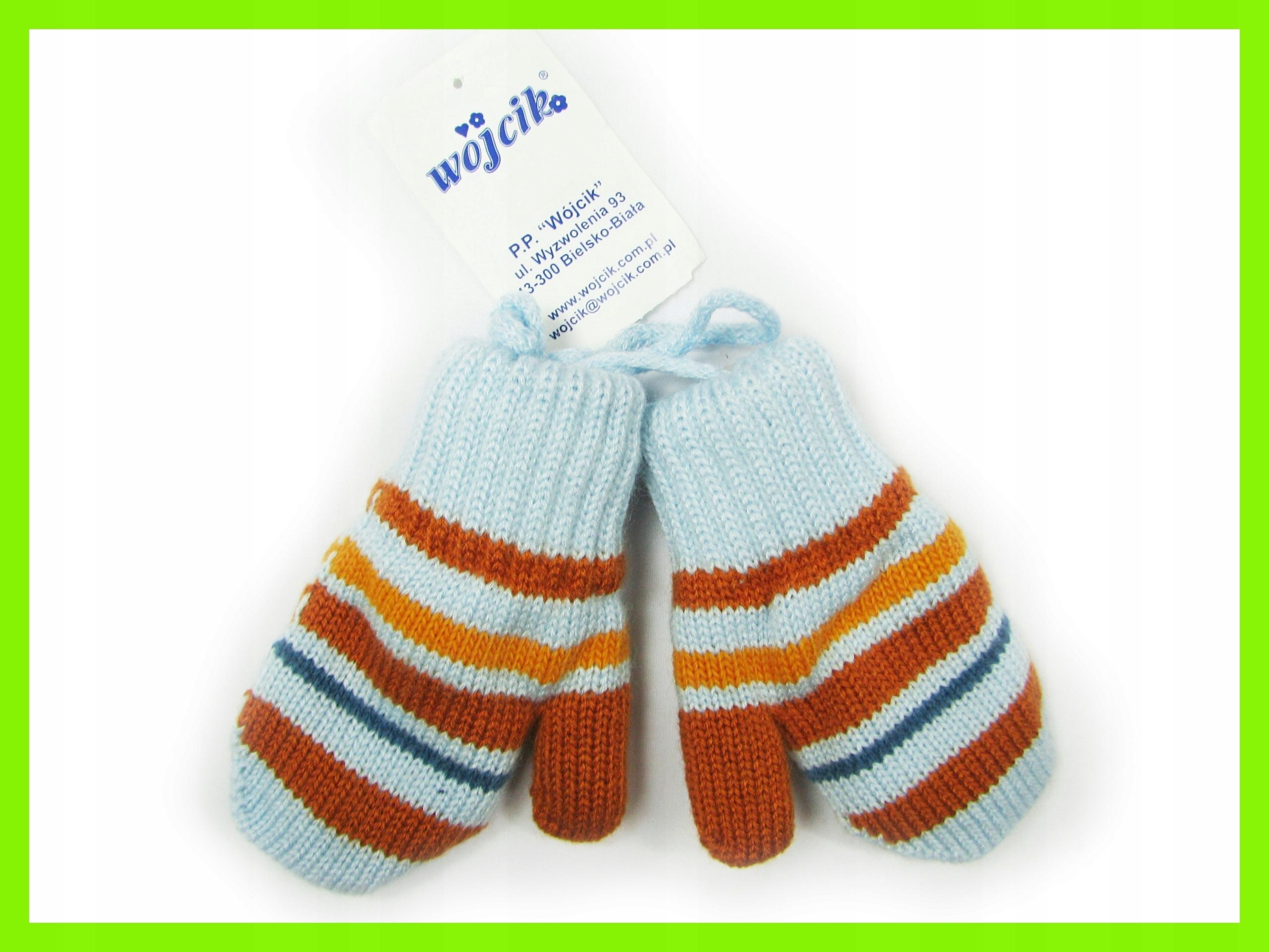 Nowe rękawiczki Wójcik jednopalcowe dziecko 12 mcy