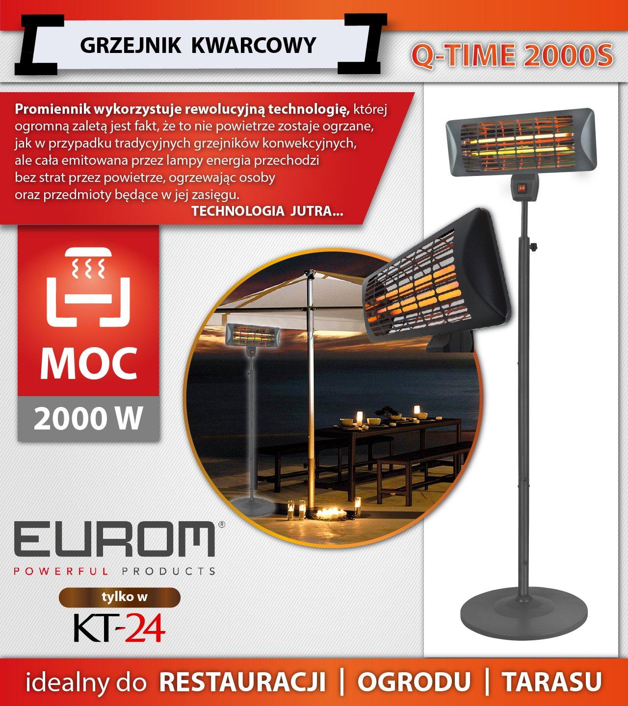 Populair GRZEJNIK KWARCOWY EUROM Q-TIME 2000S 2kW STATYW - 6969465541 IB05
