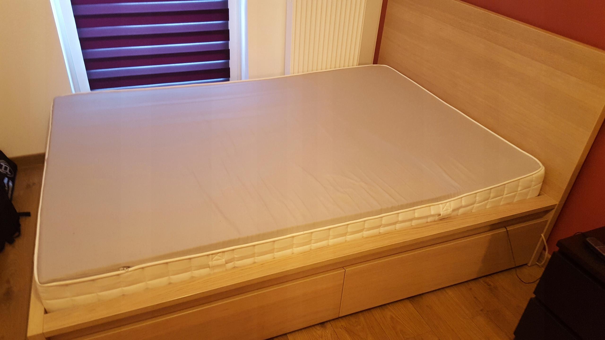 łóżko Malm Ikea 140x200 Stan Idealny 4 Szuflady 7494446291